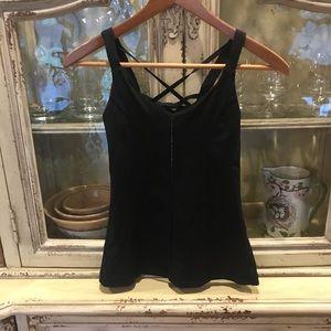 For Sale Lululemon black tank size 2 straps back
